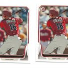 "(2) 2014 BOWMAN #219 CHRIS OWINGS  ROOKIES ""FREE SHIPPING"""