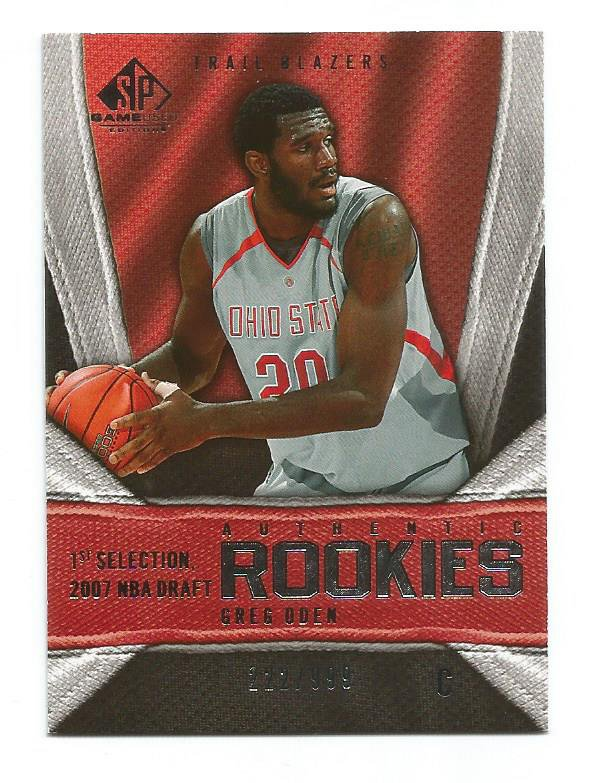 """2007-08 SP GAME USED #141 GREG ODEN ROOKIE /999 """"FREE SHIPPING"""""""