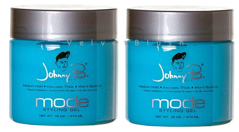 2 - Johnny B Mode Styling Gel 16oz 2 Bottles - VelvetBlush