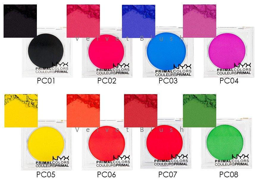1 NYX Primal Colors - Face Powder - Choose Your Favorite 1 Color - VelvetBlush