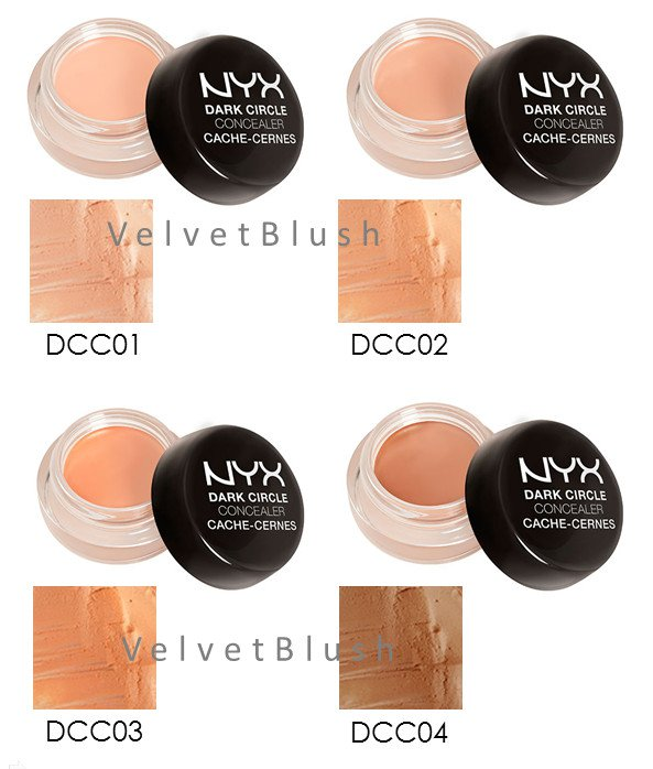 2 NYX Dark Circle Concealer Jar - Choose Your Favorite 2 Colors -VelvetBlush