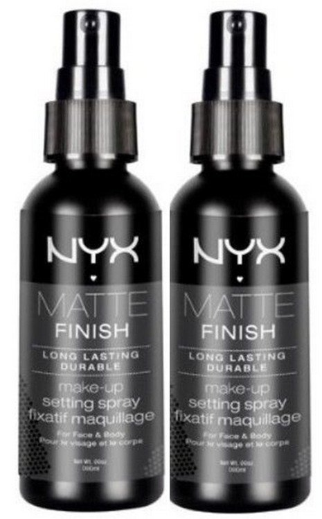 NYX Cosmetics Makeup Setting Spray Matte Finish MSS01 - Pack of 2