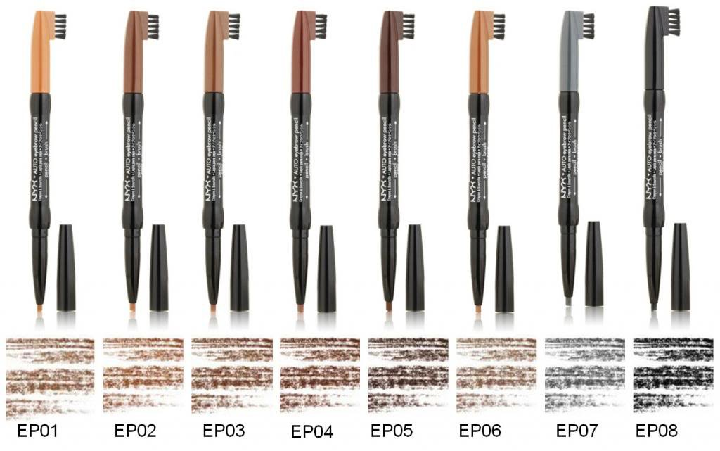 NYX Auto Eyebrow Pencil- Choose Your Favorite 2 Colors - VelvetBlush