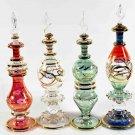 Set of 4 blown Glass Perfume bottles