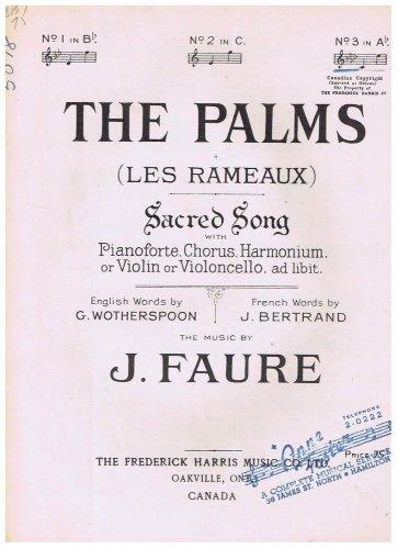 The Palms Les Rameaux Sheet Music J Faure