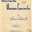 Theme From The Warsaw Concerto Sheet Music Richard Addinsell