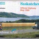 Saskatchewan Official Road Map 1988