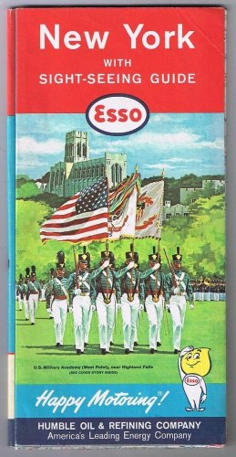 New York Esso Road Map 1961 West Point