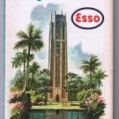 Florida Georgia Alabama Esso Road Map 1963 Singing Tower
