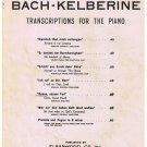 Come Sweet Death Sheet Music Bach Kelberine