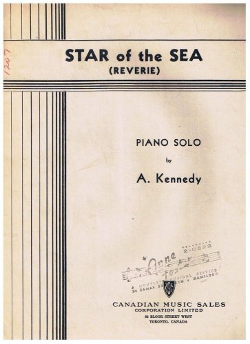 Star Of The Sea Sheet Music Reverie A Kennedy
