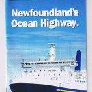 Newfoundland Ocean Highway North Sydney Port Aux Basques Argentia Ferry 1999