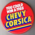 Large Retro Pinback Button You Could Win A 1988 Chevy Corsica