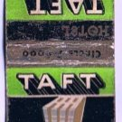 LION New York City Matchbook Cover The Taft Hotel Radio City