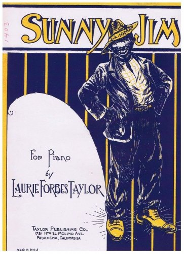 Sunny Jim Sheet Music Laurie Forbes Taylor