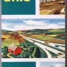 Ohio Sohio Road Map 1955