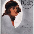 Polly for the Piano Sheet Music J S Zameenik