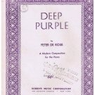 Deep Purple Sheet Music Peter De Rose