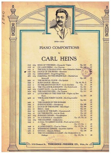 Dance Of The Bears Sheet Music Carl Heins