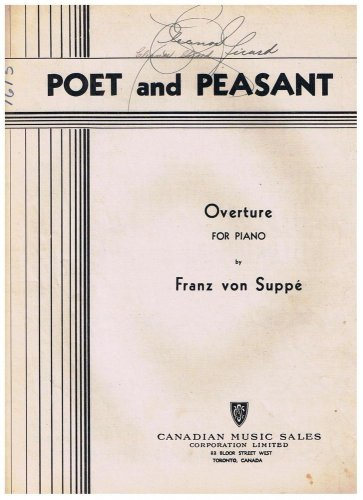 Poet And Peasant Sheet Music Franz von Suppe