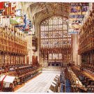 Windsor United Kingdom Postcard Choir St Georges Chapel