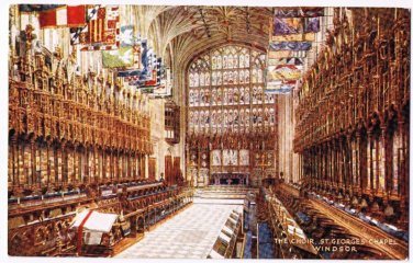 Windsor United Kingdom Postcard Choir St Georges Chapel