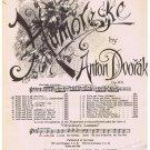 Humoreske Sheet Music Anton Dvorak