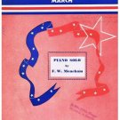 American Patrol March Sheet Music F W Meacham