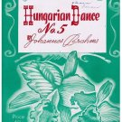 Hungarian Dance No. 5 Sheet Music Johannes Brahms Piano Solo