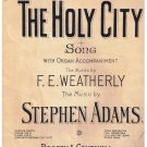 The Holy City Sheet Music F E Weatherly Stephen Adams