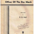 Officer Of The Day March Sheet Music R B Hall