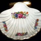 VINTAGE Occupied Japan Shell Trinket Candy Dish Roses