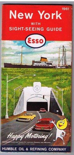 New York Esso Road Map 1961 Eisenhower Lock Messena