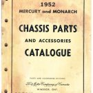 VINTAGE Ford Mercuy And Monarch Chassis Parts Accessories Catalog 1952