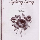 Spring Song Sheet Music Felix Mendelssohn
