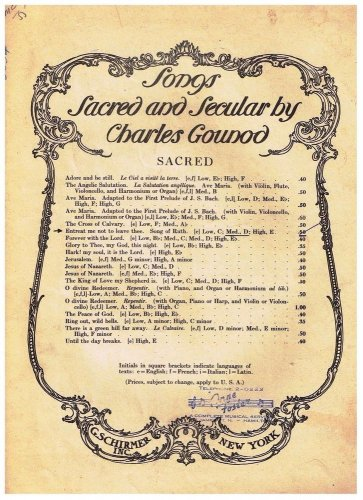 Song Of Ruth Entreat Me Not To Leave Thee Sheet Music Charles Gounod