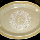 "Royal Doulton Sunny Day Oval Serving Platter 13"" Yellow Band"