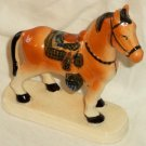 Hand Painted Horse Pony Figurine Made in  Japan Saddle