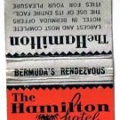 BERMUDA Match Cover Hamilton Hotel Ohio Match Pre-1935