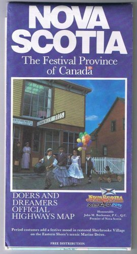 Nova Scotia Official Road Map 1988 Festival Province Doers & Dreamers