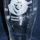 NHL Detroit Red Wings Etched Beer Glass Marcel Dionne