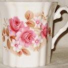 Royal Grafton Coffee Mug Pink Roses Fluted Bone China England