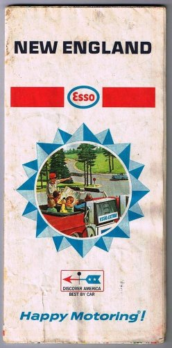 Esso New England Road Map 1968 Humble Oil