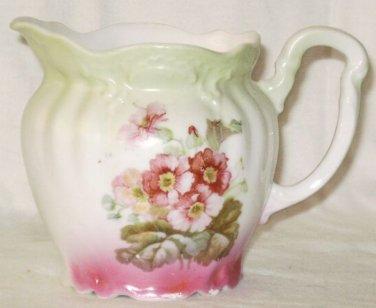 VINTAGE Victorian Floral Creamer Fuschia Pink Mint Green