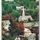 Boston New England Map 1976 Street Map Historic Sites Boston