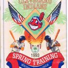 Cleveland Indians Spring Training Souvenir Program 1993 Winter Haven Florida