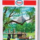 Boston & Vicinity Cape Cod Esso Road Map 1968 Public Garden