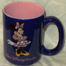 Disney Collectable Mug Minnie Mouse Cobalt Blue Pink Inside