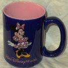 Disney Collectable Mug Minnie Mouse Cobalt Blue Pink Inside