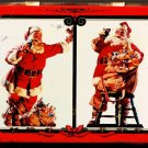 Coca Cola Nostalgia Playing Cards (2 Packs) Decorative Tin Santa Claus 1994